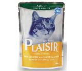 Plaisir Cat s kuřecím a játry kompletní krmivo pro kočky kapsička 100 g