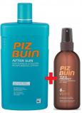 Piz Buin Tan & Protect SPF6 ochranný olej urychlující proces opalování 150 ml sprej + After Sun Soothing & Cooling mléko po opalování s aloe vera, hydratuje a chladí, redukuje zarudnutí způsobené UV zářením 400 ml, duopack