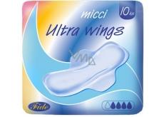 Micci Normal Ultra Wings intimní vložky s křidélky 10 kusů