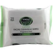 Athena Beauté Gentle Facial Cleansing Wipes Odličovací vlhčené ubrousky 25 kusů