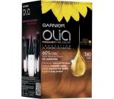 Garnier Olia barva na vlasy bez amoniaku 7.40 Intenzivní měděná