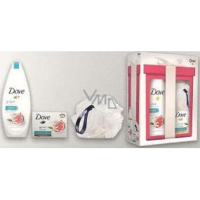 Dove Restore Go Fresh Restore vyživující sprchový gel 250 ml + Go Fresh Restore krémová tableta 100 g + houba na mytí, kosmetická sada