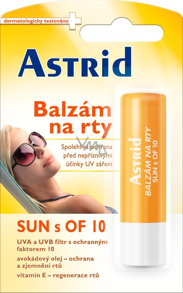 Astrid Sun OF10 balzám na rty 4,8 g