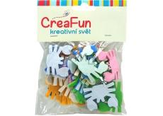 CreaFun Samolepicí dekorace Krab mix barev 4 x 3 cm 25 kusů