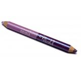 Princessa Davis Eye Double Colour oční stíny v tužce + ořezávátko 013 růžová a fialová 6 g