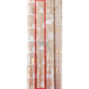 Zöllner Dárkový balicí papír 70 x 150 cm Vánoční LuxusníChris stromečky