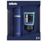 Gillette Sensitive Skin gel na holení pro muže 200 ml + balzám po holení 75 ml kosmetická sada pro muže