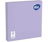 Aha Papírové ubrousky jednobarevné 3 vrstvé 33 x 33 cm 20 kusů fialové