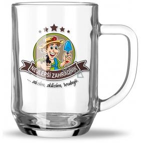 Nekupto Hobby pivní sklenice Nejlepší zahradník 500 ml