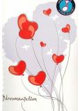 Albi Hrací přání s efektem k svatbě Novomanželé v autě 14,8 x 21 cm