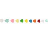 Girlanda papírová barevné lístečky 300 x 5 cm