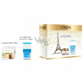 Loreal Paris Age Specialist 65+ denní krém proti vráskám 50 ml + dvoufázový odličovač na oči a rty 125 ml, kosmetická sada