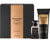 Abercrombie & Fitch Authentic Night Man toaletní voda pro muže 50 ml + sprchový gel 200 ml, dárková sada