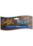 Nekupto Svítící propiska se jménem Milan, ovládač dotykových nástrojů 15 cm