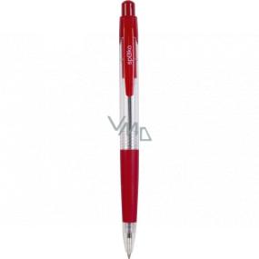 Spoko Kuličkové pero průhledné červené, červená náplň, 0,5 mm