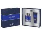 Montblanc Explorer Ultra Blue parfémovaná voda pro muže 60 ml + sprchový gel 100 ml, dárková sada