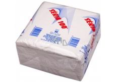 Séria 100 papírové ubrousky bílé 1 vrstvé 33 x 33 cm 100 kusů