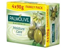Palmolive Naturals Olive Milk tuhé toaletní mýdlo 3 + 1 kus 90 g