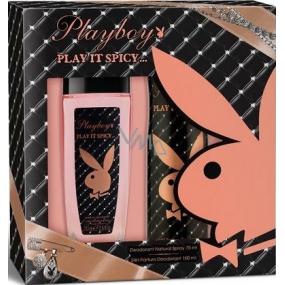 Playboy Play It Spicy parfémovaný deodorant sklo pro ženy 75 ml + deodorant sprej 150 ml, kosmetická sada