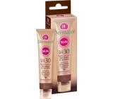 Dermacol Sun Cream & Lip Balm SPF30 + voděodolný pleťový krém na opalování 30 ml a balzám na rty 3,2 g
