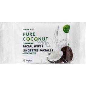 Inecto Pure Coconut čisticí pleťové ubrousky 25 kusů