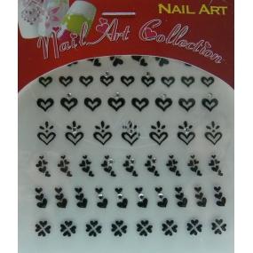 Absolute Cosmetics Nail Art samolepicí nálepky na nehty 3DS20B 1 aršík