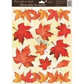 Room Decor Okenní fólie bez lepidla podzimní listí červené 42 x 30 cm 1 kus