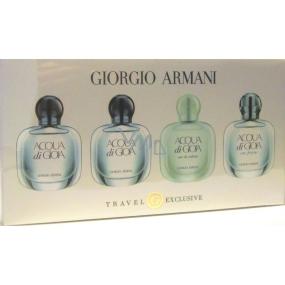 Giorgio Armani Mini Set Acqua di Gioia EdP 2 x 5 ml + Armani Acqua di Gioia Eau de Toilette EdT 5 ml + Acqua Di Gioia Eau Fraiche EdT 5 ml, dárková sada