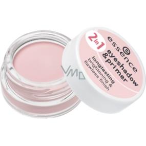 Essence Eyeshadow & Primer podklad & oční stíny 2v1 02 Nude Rosé 5 g