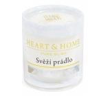 Heart & Home Svěží prádlo Sojová svíčka bez obalu hoří až 15 hodin 53 g