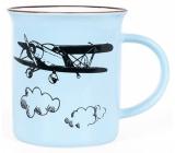 Albi Keramický plecháček Letadlo modrý 250 ml