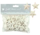 Hvězdičky s glitry 50 kusů bílá, 2 cm