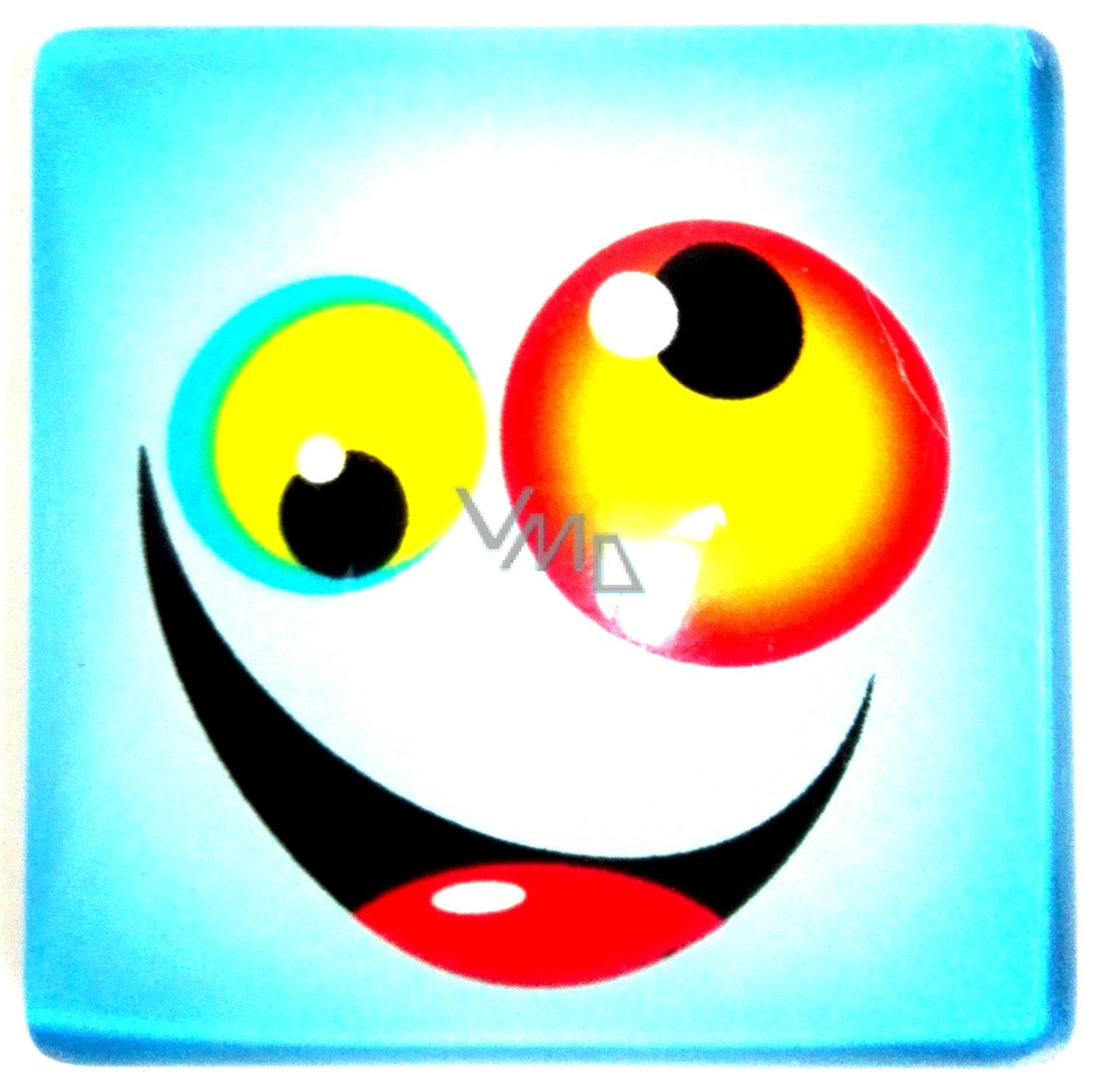 Nekupto Magnet Emoji Smajlík čtvereček modrý 8e4648e1354