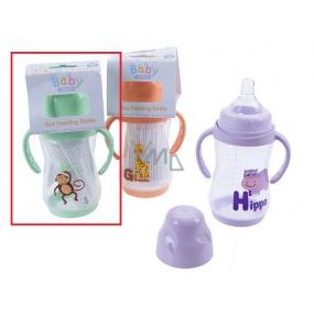 Baby First Opice 0+ kojenecká láhev s úchopy 250 ml