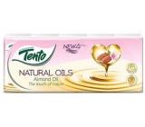 Tento Natural Oils Almond Oil parfémované hygienické kapesníky 4vrstvé 10 x 10 kusů