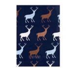 Ditipo Dárkový balicí papír 70 x 200 cm Vánoční tmavě fialový se soby