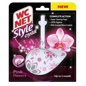 WC Net Crystal Style Pink Flowers závěs 36,5 g