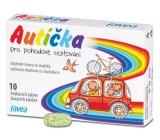 Favea Autíčka pro pohodové cestování, pro potlačení nevolnosti, doplněk stravy se sladidly 10 žvýkacích tablet