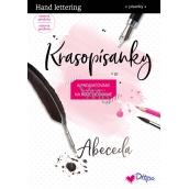 Ditipo Krasopísanky Moderní krasopis Hand lettering abeceda k procvičování 32 stran 7195001