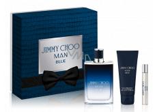 Jimmy Choo Man Blue toaletní voda 100 ml + balzám po holení 100 ml + toaletní voda 7,5 ml, dárková sada