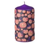Emocio Angry Pumpkin svíčka fialová válec 60 x 110 mm
