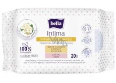 Bella Intima Extrakt z bílých květů bavlněné vlhčené ubrousky pro intimní hygienu 20 kusů