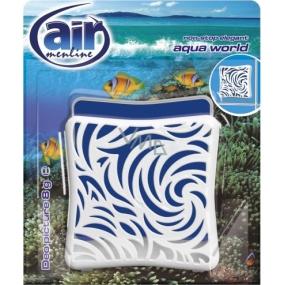 Air Menline Deo Picture Non Stop Elegant Aqua World gelový osvěžovač vzduchu 8 g