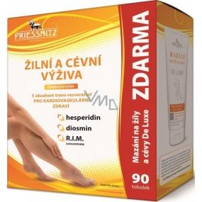 Priessnitz Žilní a cévní výživa 90 tobolek + Priessnitz De Luxe mazání na žíly a cévy 125 ml