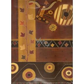 Nekupto Dárková papírová taška střední 1027 01 BL hnědá 32,5 x 26 x 13 cm
