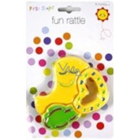 First Steps Chrastítko zvířátko žluté PS182
