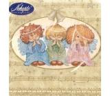 Nekupto Papírové ubrousky vánoční andělé 3 vrstvé 33 x 33 cm 20 kusů