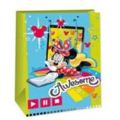 Ditipo Disney Dárková papírová taška dětská XL Minnie Awesome 33 x 10,2 x 45,7 cm