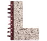 If Alphabooks Note Books Zápisník ve tvaru písmena L 91 x 14 x 124 mm