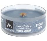 WoodWick Evening Onyx - Večerní onyx vonná svíčka s dřevěným knotem petite 31 g